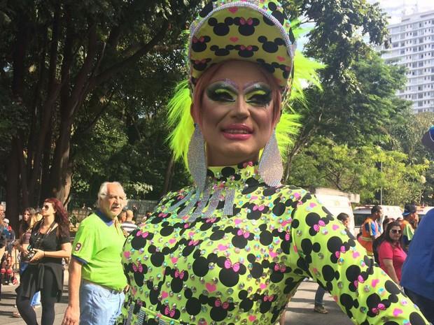 """Pretty Lupen é apresentadora da Parada LGBT de Campinas. """"A recepção aqui é bastante positiva"""", diz sobre o evento paulistano (Foto: Gabriela Gonçalves/G1)"""