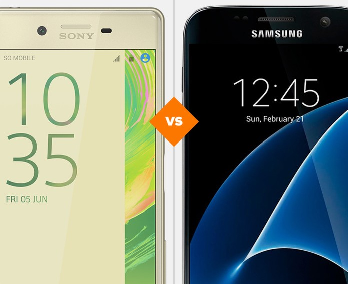 Xperia X ou Galaxy S7: descubra qual celular tem melhor desempenho (Foto: Arte/TechTudo)