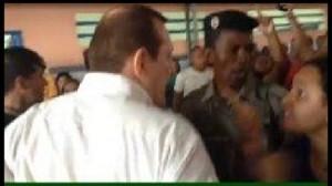 Vídeo mostra agressão de Coronel Brito (PEN) a uma eleitora (Foto: Reprodução)