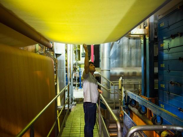 Fibria indústria celulose Jacareí (Foto: Victor Moriyama/G1)