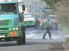 Equipes reparam ruas e iluminação após chuva de granizo em Rio Claro
