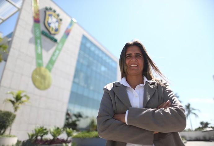 Emily Lima técnica (Foto: Lucas Figueiredo/CBF)
