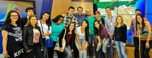 Alunos do IFSC visitaram a redação da RBS TV (Foto: Divulgação)