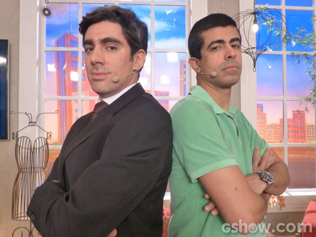 Marcelo Adnet e Marcius Melhem (Foto: Encontro com Fátima Bernardes/TV Globo)