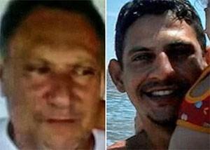 Pai e filho, Geraldo de Sousa e Alirio Cavalieri Nobre de Sousa teriam reagido ao assalto (Foto: Divulgação/Polícia Civil)