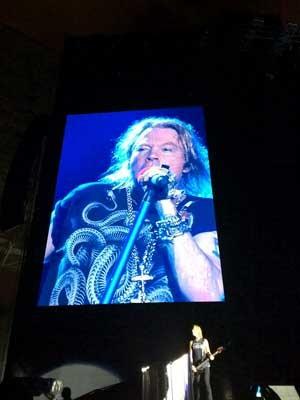 Banda Guns N' Roses se apresentou no Engenhão (Foto: Carlos Brito / G1 )