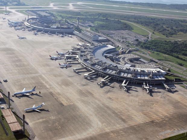 Vista aérea do Aeroporto Internacional Antônio Carlos Jobim, o Galeão (Foto: Divulgação/Infraero)