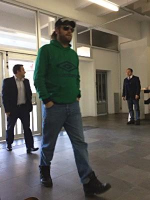 Rodrigo Rysdyk, conhecido como Alemão, prestou depoimento nesta quarta-feira em Porto Alegre (Foto: Tatiana Lopes/GloboEsporte.com)