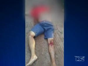 Vídeo mostra que PMs testemunham execução de mecânico no Maranhão (Foto: Reprodução/TV Mirante)