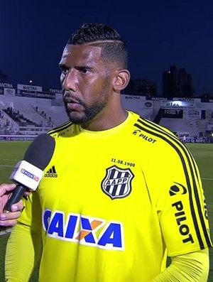 Aranha goleiro Ponte Preta Palmeiras (Foto: Reprodução SporTV)