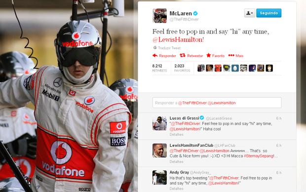 McLaren faz piada com gafe de Lewis Hamilton no GP da Malásia (Foto: Reprodução)