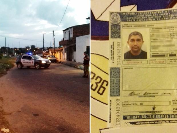 Crime aconteceu próximo da linha férrea que liga Cidade Nova ao bairro de Felipe Camarão, na Zona Oeste de Natal (Foto: PM/Divulgação)