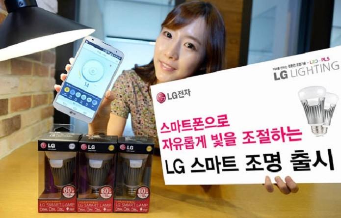 Lampada inteligente da LG tem também conexão via Bluetooth (Reprodução/LG) (Foto: Lampada inteligente da LG tem também conexão via Bluetooth (Reprodução/LG))