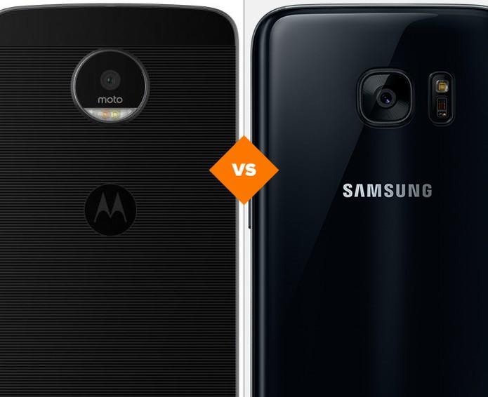 Confira o comparativo entre o Moto Z e o Galaxy S7 (Foto: Arte/TechTudo)