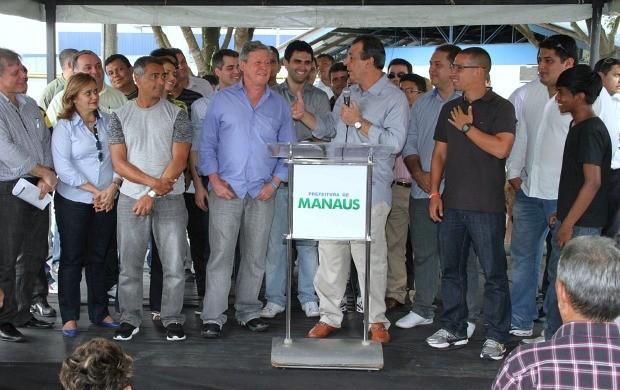 termo estádio amazonas (Foto: Arlesson Sicsú /SEMCOM)