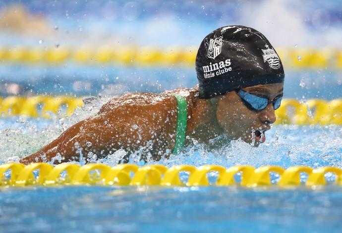 Daiene Dias no Trofeu Maria Lenk de natação realizado no Centro Aquatico Olimpico.  (Foto: Satiro Sodré/ SSPress)