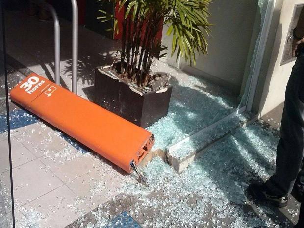 Homem provocou quebradeira em Dvinópolis (Foto: Nayara de Paula/Divulgação)