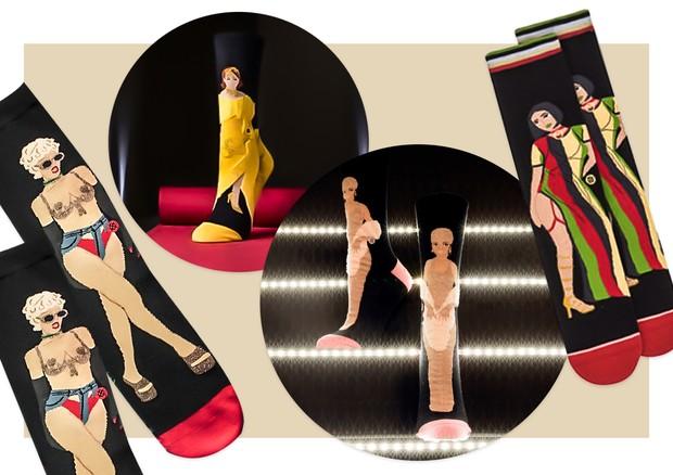 Os looks icônicos de Rihanna viraram meias (Foto: Reprodução )