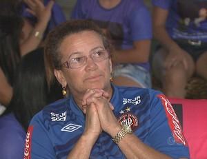 Dona de casa Josefa Pereira, mãe do goleiro Weverton, do Atlético-PR (Foto: Reprodução/TV Acre)
