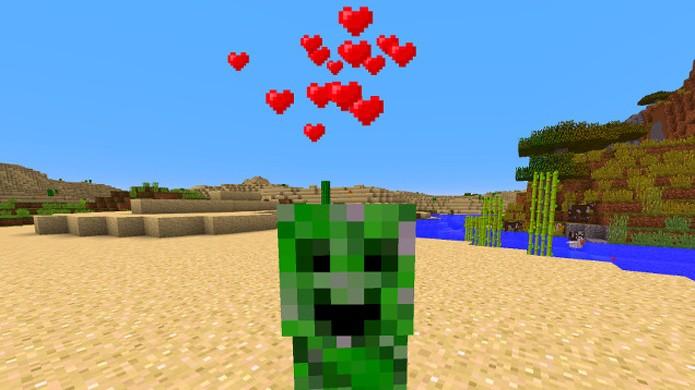 Atualização de primeiro de abril de Minecraft traz apenas amor (Foto: Reprodução/Kotaku)