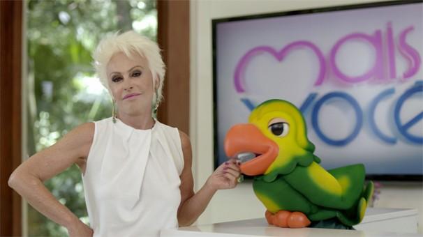 Ana Maria Braga e Louro José estão no filme sobre o símbolo 'A' que aparece na tela de quem vê a Globo analógica (Foto: Globo)