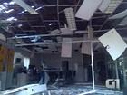 Leitor registra agência destruída por explosivos em Ibiassucê, na Bahia