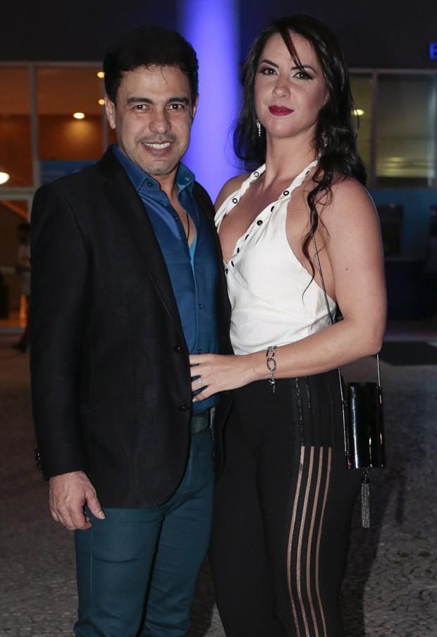 Zezé Di Camargo e Graciele Lacerda (Foto: Rafael Cusato/Brazil News)