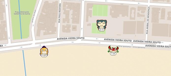 PokéRadar mostra os Pokémons na sua região (Foto: Reprodução/Caio Fagundes)