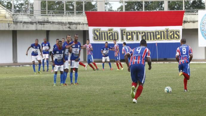 Araguaína vence o Tocantins no estádio Mirandão (Foto: Lucas Ferreira/TV Anhanguera)