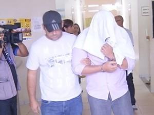 Prisão suspeito de estruprar enteada de 10 anos (Foto: Reprodução/TV Anhanguera)
