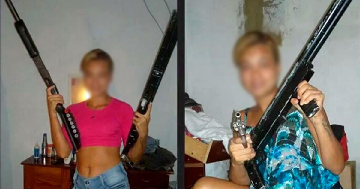 'Era brincadeira', diz loira que postou fotos com escopetas em redes ... - Globo.com