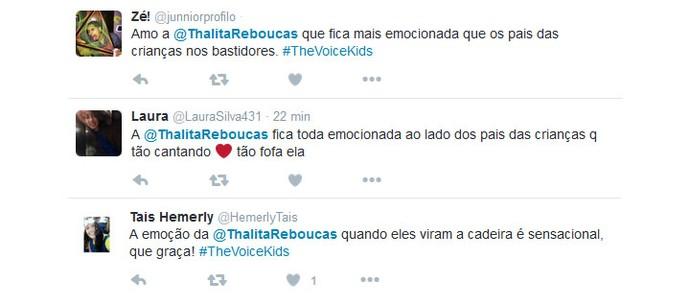 Usuários das redes comentam as reações de Thalita Rebouças (Foto: TV Globo)