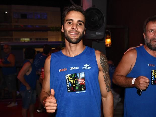 Daniel Cady em camarote em Salvador, na Bahia (Foto: Caio Duran e Charles Naseh/  Divulgação)
