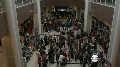 Aeroporto Santos Dumont, no Rio, tem voos cancelados e atrasados devido a tempo ruim