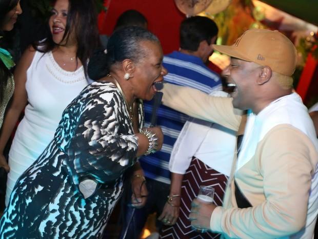 Neuza Borges e Márcio Victor em festa em Salvador, na Bahia (Foto: Sercio Freitas/ Divulgação)
