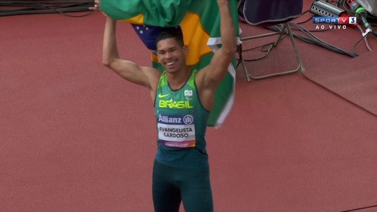 Mateus Evangelista voa na final dos 100m T37 e é campeão mundial em Londres