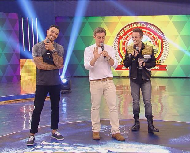 Felipe Titto, Miguel Roncato e Luciano nas Melhores Provas do Lata-Velha (Foto: Caldeirão)