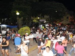 Carnaval foi cancelado por falta de segurança em Bambuí (Foto: Marco Antônio/Tv Bambuí)