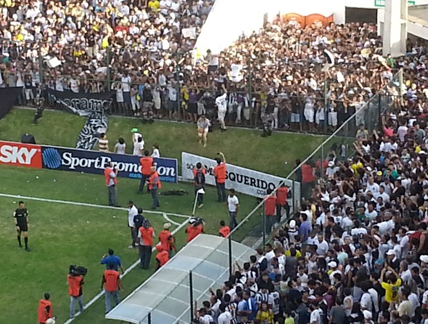 tumulto ABC x Palmeiras (Foto: Marcelo Hazan)