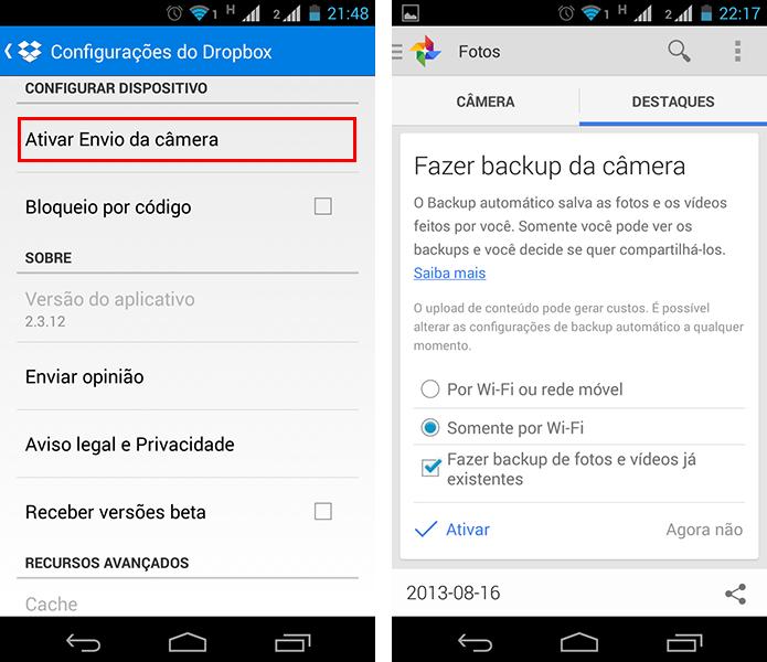 Dropbox e Google+ são boas opções para guardar suas fotos na nuvem automaticamente (Foto: Reprodução/Paulo Alves) (Foto: Dropbox e Google+ são boas opções para guardar suas fotos na nuvem automaticamente (Foto: Reprodução/Paulo Alves))