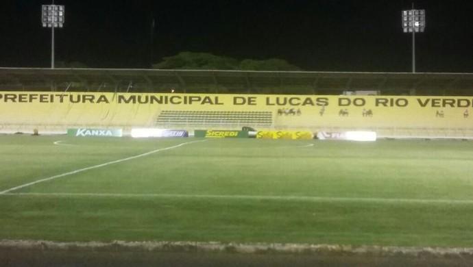 Estádio Passo das Emas, TR (Foto: Assessoria/Luverdense Esporte Clube)