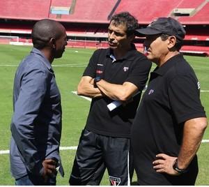 Mineiro visita Morumbi e conversa com Muricy Ramalho e Milton Cruz (Foto:  (Foto: Site Oficial / saopaulofc.net))