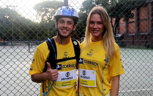 Leonardo Miggiorin e fiorella mattheis World Bike Tour 2013 (Foto: Patricia Palhares)