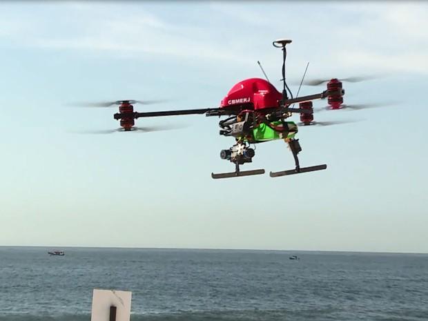 Drone terá câmera para identificar pessoas em afogamento  (Foto: Reprodução/ Corpo de Bombeiros)