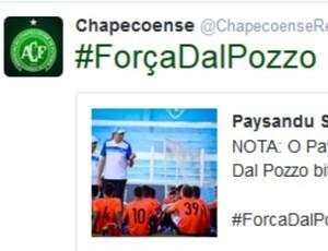 Chapecoense, Dal Pozzo, Ceará  (Foto: Reprodução / Twitter )
