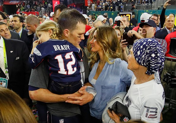 Gisele Bündchen e Tom Brady na final do Super Bowl  (Foto: Getty Images)