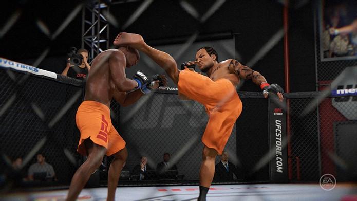 EA Sports UFC 2  tem as lutas dentro da academia do TUF (Foto: Reprodução/Thiago Barros)