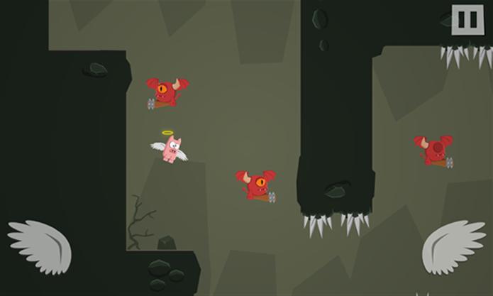 Pigs Cant Fly é uma aventura onde você deve ajudar este pobre porquinho a voltar para o céu (Foto: Divulgação/Windows Phone Store)