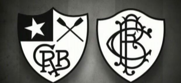 Escudo Botafogo antes da fusão (Foto: Reprodução TV Globo)