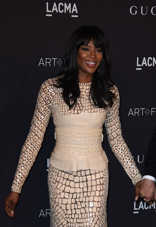 Naomi Campbell no LACMA (Foto: Frederick M. Brown / GETTY IMAGES NORTH AMERICA / AFP)